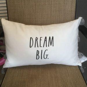 Rae Dunn Decorative Pillow DREAM BIG New